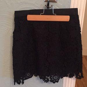 TopShop mini skirt black size 6
